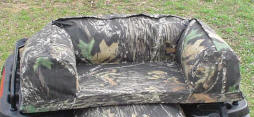 Camouflage atv rear rack bag